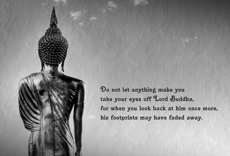 dhamma image quote keep your eyes on lord buddha at enlightenment. Black Bedroom Furniture Sets. Home Design Ideas